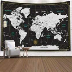 Tapestry World MapCapsceoll Map Hanging Wall Hanging Decorations Outdoor Wall H