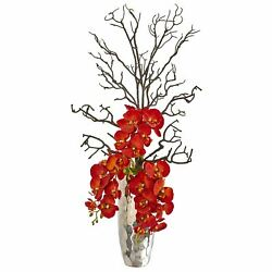 36andrdquo Autumn Phalaenopsis Artificial Arrangement In Vase Incredibly Realistic