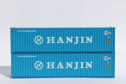 N Scale Jacksonville Terminal 40' Containers Hanjin 2 Pack Item 405012