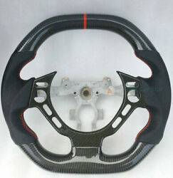 Flat/ Round Top 100 Real Carbon Fiber Car Steering Wheel For Nissan Gtr R35