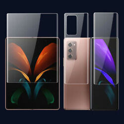 For Samsung Galaxy Z Fold 2 Hydrogel Screen Protector Full Cover Soft Film Lot