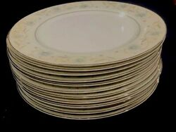 English Garden Japan Fine China 1221 Blue Floral Set Of 12 Dinner Plates 10 In