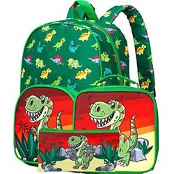 3PCS Preschool Backpack Boys 15amp;quot Little Kid Dinosaur Backpacks And Lunch $29.91