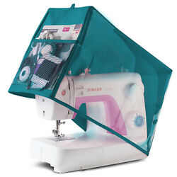 Sewing Machine Dust Cover For Singer And Brother Machines Turquoise Clear