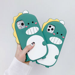Cute Dinosaur Cartoon Silicone Phone Case For iPhone 11 Pro MAX 7 8 Plus XR Xs $10.99