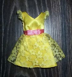❤️ Barbie Doll Clothes 50th Anniversary Most Mod Party Becky Yellow Dress ❤️ $14.99
