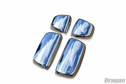 To Fit 2007 - 2013 Daf Cf Polished Steel Mirror Covers Truck Lorry 4 Piece Set