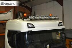 Roof Bar+jumbo Spots+flush Led To Fit New Gen Scania 17+ R S Series Normal Cab