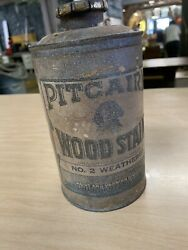 Antique Pittsburgh Wood Stain Tin Plate Glass Paint Co Advertising Paper Label