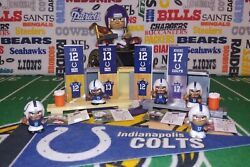 Nfl Teenymates Indianapolis Colts Fan Pack - 3xluck/hilton/rivers Fig/acc Set