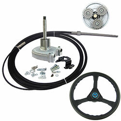 21 Ft Marine Planetary Gear Outboard Steering Helm With Cable And Steering Wheel