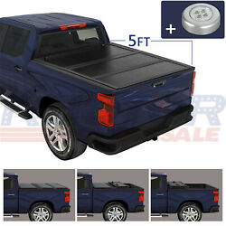 Hard Solid Tonneau Cover Tri-fold 5ft Truck On Top Fit For Ford Ranger 2014-2018
