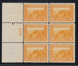 Us 400 10c Pan-pacific Mint Plate 6130 Block Of 6 F-vf Og 1 Lh/ 5 Nh Scv 2350