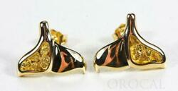 Gold Nugget Whale Tail Earrings Orocal Edlwt12 Genuine Hand Crafted Jewelry -