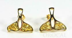 Gold Nugget Whale Tail Earrings Orocal Ewt22n Genuine Hand Crafted Jewelry - 1