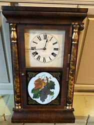 Antique Seth Thomas Mantle Chime 30hr Clock Weighted Wind Up Movement 1875 1885