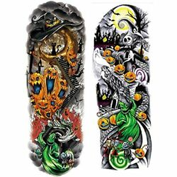 12 Sheets Nightmare Before Christmas Full Arm Temporary Tattoo Stickers Tumbler