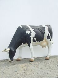Cow Statue - Life Size Cow Statue - Large Cow Head Down Statue - Cow Sculpture
