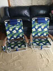 Tommy Bahama 5 position Backpack Cooler Chair. Set Of 2 $125.00