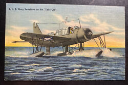 1944 Us Army Athens Pa Picture Postcard Cover To Salt Lake City Ga Us Navy Seapl