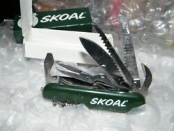 Skoal Tool Equipped Knife Green Stainless Steel Blades Made In China Nib