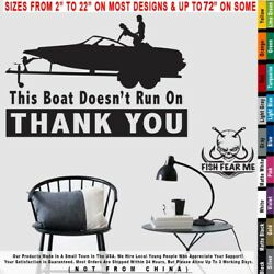 Fishing This Boat Doesnand039t Run On Thank You Ass Gas Grass Cash Decal Sticker