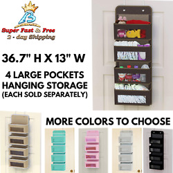 Over Door Large Pockets Hanging Storage Clear Window Organizer For Toys Diapers