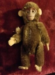 """💙❤️💜💚💛extremely Rare🌼5"""" Schuco German Jointed Mohair Monkey, Movable Head"""
