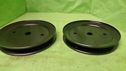 New Set Of 2 Spindle Pulleyand039s 195945 197473 532195945 Free Shipping