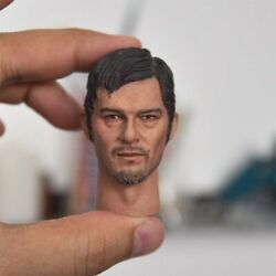 1/6 Man Head Daryl Dixon Carved Pvc Model Sculpt Toy Fit Action Figure Gift