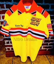 Nhra Eddie Hill The Thrill Supershops Nitro Top Fuel Dragster Crew Shirt Jersey