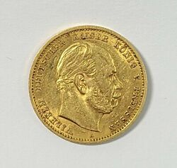 1879 Germany German States 10 Mark Gold Coin
