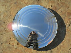 1932-35 Stainless Wire Wheel Hubcaps With 3 Ridges New - 5 3/4 Lip Diameter