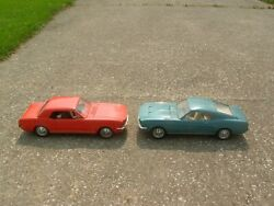 Mac Orange 65 Mustang Gt Coupe Blue 67 Gt Fastback 1/10 Scale Motorized Toys