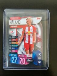 📈 Erling Haaland Topps Champions League 2019-2020 Rookie Card Red Bull Salzburg