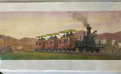 Patrick O'brien Rare Watercolor Gouache Painting From Steam, Smoke, And Steel