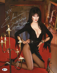 Elvira Mistress Of The Dark Signed 11x14 Photo Authentic Autograph Beckett 29