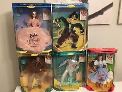 💙❤️💜💚💛lot Of 5 Wizard Of Oz Barbie Hollywood Legends Collection