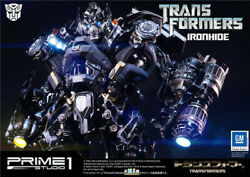 Prime 1 Studio Mmtfm-11 Deformed Toy Ironhide Tin P1s Statue In Stock 24in.