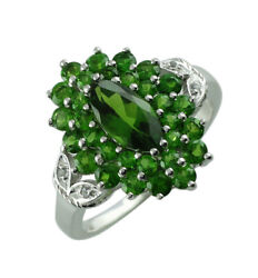 Green Chrome Diopside Gemstone 18k Yellow Gold Ring   A Precious Gift For Her