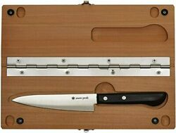 Snow Peak Japan Portable Cutting Board & Knife Set Both For In And Out Door Size L