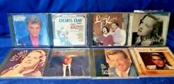Lot of 8 Vintage ARTISTS CDS Perry Como Tony Bennett Conway Twitty Doris Day