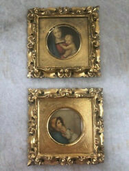 Fabulous Vintage Gold Decorative Wood Frames With Mother And Child Paintings