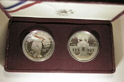 1983-s And 1984-s Us Mint Proof Los Angeles Olympic Silver Dollar Set