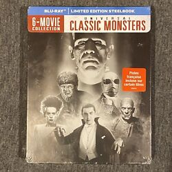 Universal Classic Monsters 6-movie Collection Blu Ray, Steelbook
