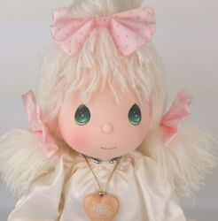 Precious Moments Angel Doll Angie Soft Sculpture 14 In With Stand Tags Locket Ec