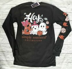 NWT Simply Southern quot;Hey Booquot; Women#x27;s Sz. SMALL Halloween READ AD $14.88