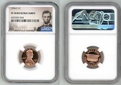 1994 S Lincoln Cent 1c Ngc Pf 70 Rd Ultra Cameo R6