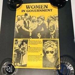 1985 Vintage Women In Government Science Feminism School Posters 18 X 12