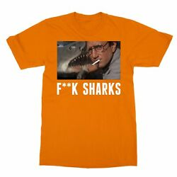 Classic Movie Jaws Fk Sharks Funny Movie Fan Shark Menand039s T-shirt